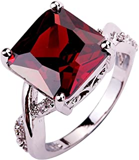 Valentine's Day Jewelry CZ Ring Stone Wedding Bridal Rhinestone Jewelry for Women