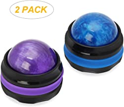 Coolrunner Massage Ball, Manual Roller Massager, 2-Pack Handheld Self Massage Therapy and Relax Full Body Tools for Sore Muscles, Shoulders, Neck, Arms, Legs, Back, Foot, Body(Blue&Purple)