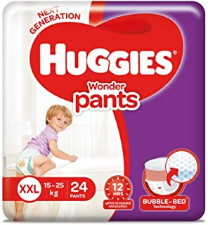 Huggies Wonder Pants, Double Extra Large (XXL) Size Diapers, 24 Count