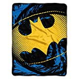 """Warner Brothers' Batman """"Ripped Shield"""" Measures 46-Inch by 60-Inch Made of 100% Polyester Imported Machine Washable"""