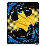 DC Comics Batman, 'Ripped Shield' Micro Raschel Throw Blanket, 46' x 60', Multi Color, 1 Count