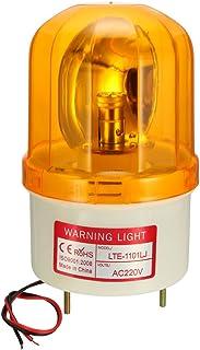 sourcing map Bombilla de luz de advertencia tipo Lámpara LED de alarma sonora intermitente giratoria 90dB