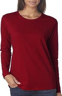 Gildan Women's Preshrunk Taped Neck Heavy Rib Knit T-Shirt