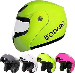 Leopard LEO-717 Casco Moto Modular ECE 22-05 Homologado para Motocicleta Bicicleta Scooter Cascos de Moto Modulares Mujer y Hombre