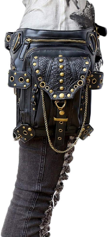 CHUO YUE Neue Unisex-Tasche Europa Und Amerika Steampunk Retro-Schultertasche Mit Diagonalen Taschen,schwarz
