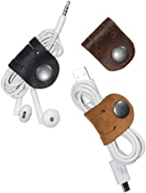 Hide & Drink, Leather Cord Organizer (3 Pack) / Earbud/Cable/Earphone Holder/Case/Phone Accessories/Travel Essentials, Handmade Includes 101 Year Warranty :: Multicolor