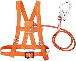 Cinturón de seguridad, MAGT aérea trabajo del cinturón de seguridad Subida al aire libre ajustable del arnés del cinturón de seguridad cuerda de rescate for la escalada del electricista Construcción d