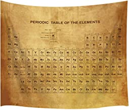 KOTOM Educational Tapestry, Periodic Table of Elements on Ancient Parchment Tapestries, Wall Art Hanging for Bedroom Living Room Dorm 71X60Inches Wall Blankets
