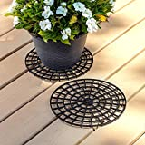 Patio & Deck Floor Protector (Set of 2) 12 inches Perfect Plant Trivet to Prevent Rot and Damage on Deck or Patio Floors…