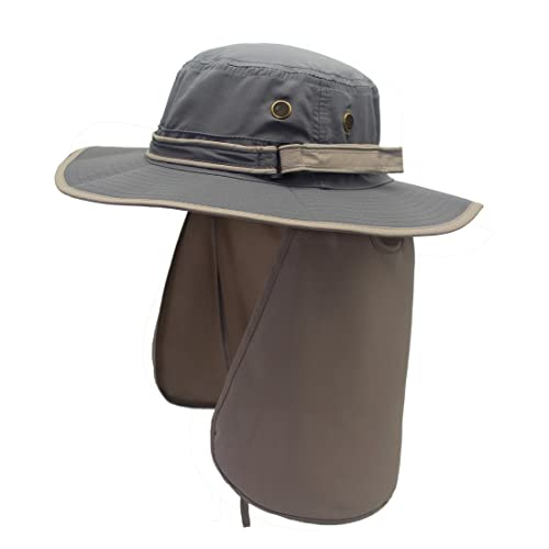 01d4f81f062 Decentron Unisex Quick Drying UV Protection Outdoor Sun Hat with Flap Neck  Cover