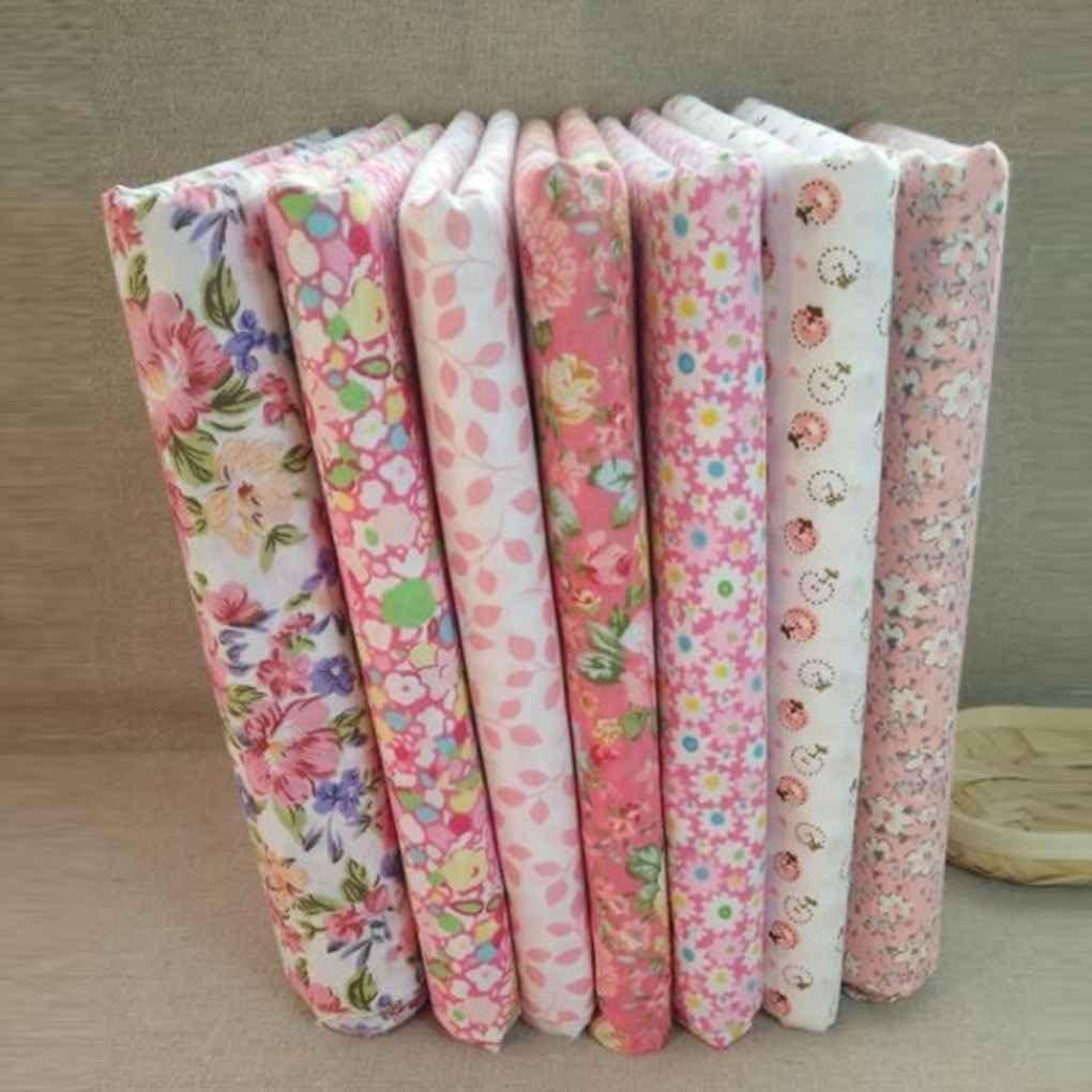 Set Baumwollgewebe f/ür das N/ähen Quilting Patchwork Home Textile Rosa Bildserie Tilda Puppenk/örper Cloth Chunyang 7pcs