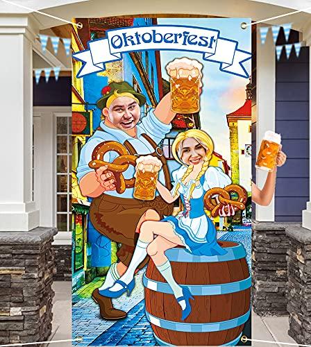 Wishstar Oktoberfest Deko, Oktoberfest Foto Requisit Banner, Oktoberfest Photo Booth Hintergrund, Oktoberfest Bayerisches Partyset Dekorationen, Lustige Oktoberfest Spiel Lieferungen