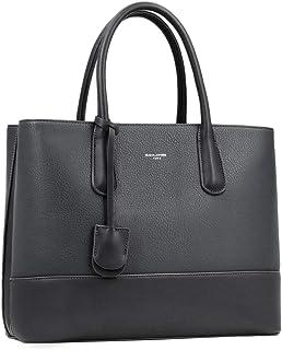 David Jones - Damen Große Handtasche Henkeltasche - Tote Shopper Bag PU Echtes Leder Stil - Multi Pocket Top Griff Taschen...