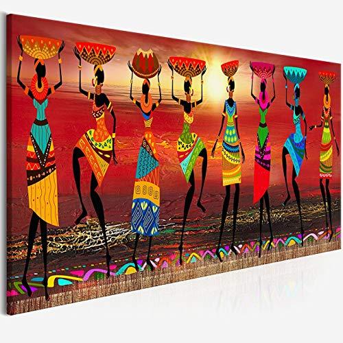 """Impresiones de carteles artísticos Lienzo Cuadros Etnicos Pinturas de arte tribal Mujeres africanas Bailando Cuadro de pintura al óleo para decoración del hogar 30x90cm (12""""x35"""") Sin marco"""