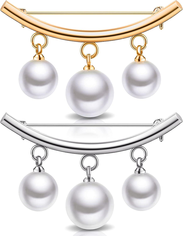 2 Pieces Luxury Artificial Pearl Sale special price Brooch Saf Anti-Exposure Pins Neckline