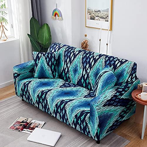 WXQY Funda de sofá con patrón geométrico para Sala de Estar, Funda de sofá elástica, combinación de Esquina en Forma de L, Funda de sofá Antideslizante A13, 3 plazas