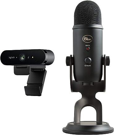 Logitech BRIO Webcam Ultra HD 4K per Streaming, Videoconferenze e Registrazione per Windows e Mac, Home, Nero + Blue Microphones Yeti Microfono USB - Oscuramento - Trova i prezzi più bassi