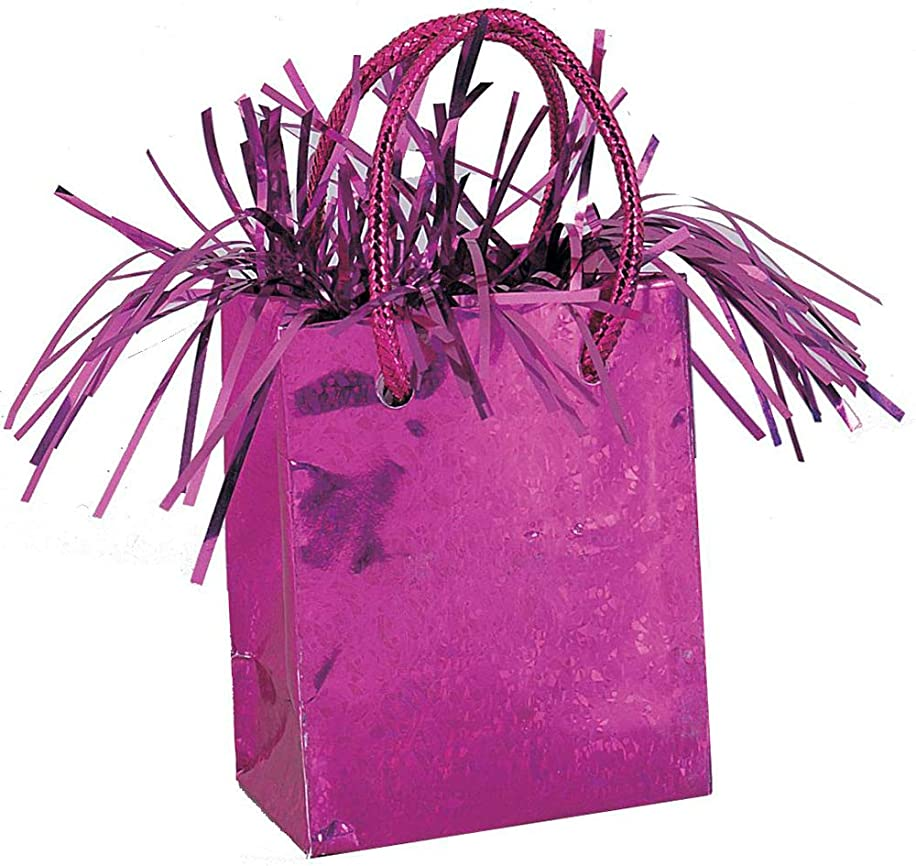 Gift Bag Shaped Hot Pink Balloon Weight