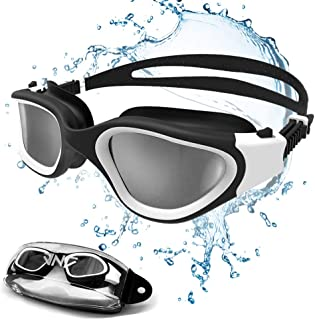 JNJ Swimming Goggles Comfortable UV Protection Anti-Fog for Adults Men Women Kids 8-12 Snorkle