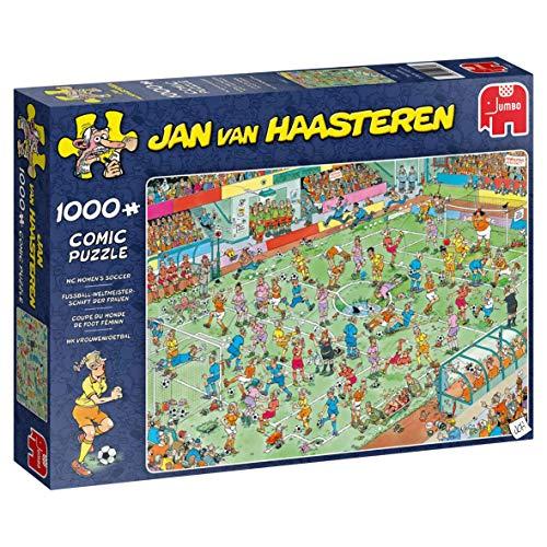 Jumbo Spiele 19091 B07PNK2K1L Womens Soccer 1000 pcs Jan Van Haasteren Puzzel-WK Vrouwenvoetbal, 1000st, bunt