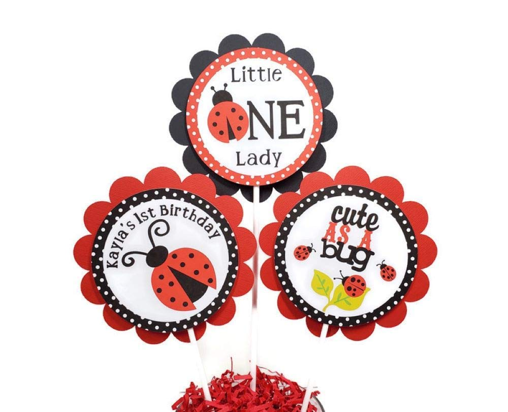 Ladybug First All items in the store Birthday Centerpiece Max 70% OFF Girl 1st Sticks Baby