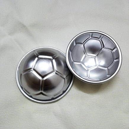 10pcs semicircular pequeño pastel molde horno jalea pudín fútbol diy