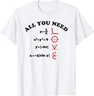 All You Need Is Love Math Shirt Graph Equations