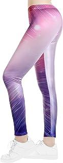 Women's High Waisted Leggings Rainbow/Flag/Galaxy/Camouflage/Skull Running Yoga Gym Workout Pants