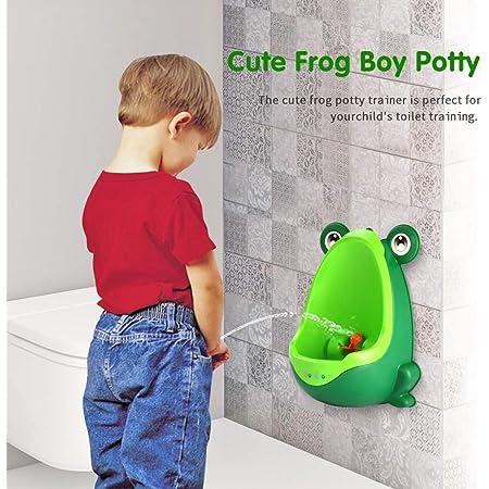 Amazon.com : Batterawl Frog Children Potty - Wall-Mounted Toilet Training  Boys Urinal for Boy Pee Trainer Bathroom : Baby