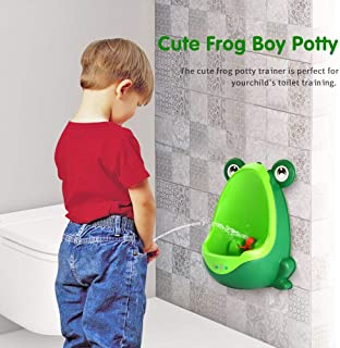 Batterawl Frog Children Potty - Wall-Mounted Toilet Training Boys Urinal for Boy Pee Trainer Bathroom