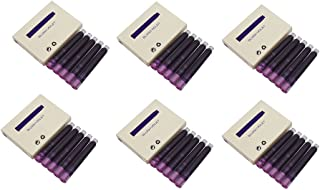 Jinhao Fountain Pen Ink Refill Cartridges, Bluish Violet Color, Set of 30 PCS, International Standard Size Disposable and Generic Ink Refill Cartridges