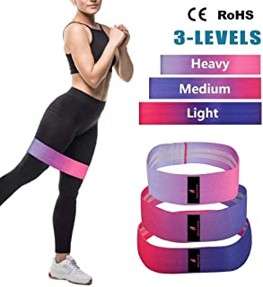 Beautifive Resistance Bands for Legs and Butt, Exercise Booty Bands, Non Slip Resistance Loops with Carrying Bag, Heavy Resistance Workout Bands for Legs, Butt & Hip, Set of 3