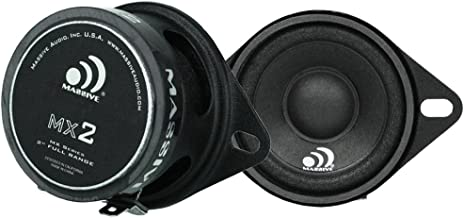 Massive Audio MX2 20w Full Range Speakers. Heavy Duty 2 inch Coaxial Speakers to Complete Your Car Speakers Set! Enjoy Crystal Clear Sound to Satisfy That Audiophile in You! (Sold in Pairs)
