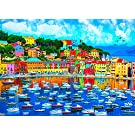 Jigsaw Puzzles for Adults 1000 Pieces Jigsaws Puzzles - Harbour of Sestri Levante, Liguria, Italy - 1000 Pieces Jigsaw Puzzles for Adults Teens Kids Brain Challenging Daily Game Puzzle 1000 Toys Gift