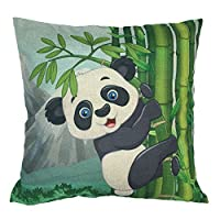 "WayHomeDecor 18 ""X18 "" Cotton Linen Decorative Throw Pillow Cushion"
