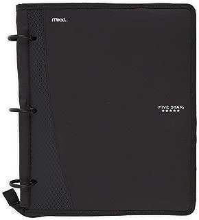 Five Star Flex Hybrid NoteBinder, 1 Inch Ring Binder, Notebook and Binder All-in-One, Black (73412)