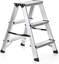 MSW Trittleiter Alu Klapptritt kleine Leiter f/ür Haushalt MSW-AK3 3 Stufen, max. 150 kg, max. H/öhe 60 cm, klappbar