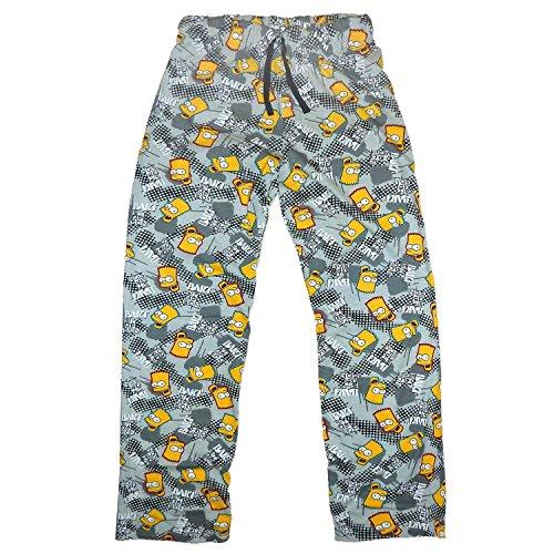 Jungen Kinder Bart Simpson Hausanzug Pyjama Schlafanzug Nachtanzug Unterteil Hose 5843 (7-8)