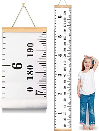 """2021 MIBOTE Baby Growth Chart Handing Ruler Wall Decor for Kids, Canvas outlet online sale Removable Growth Height Chart 79"""" online x 7.9"""" online"""