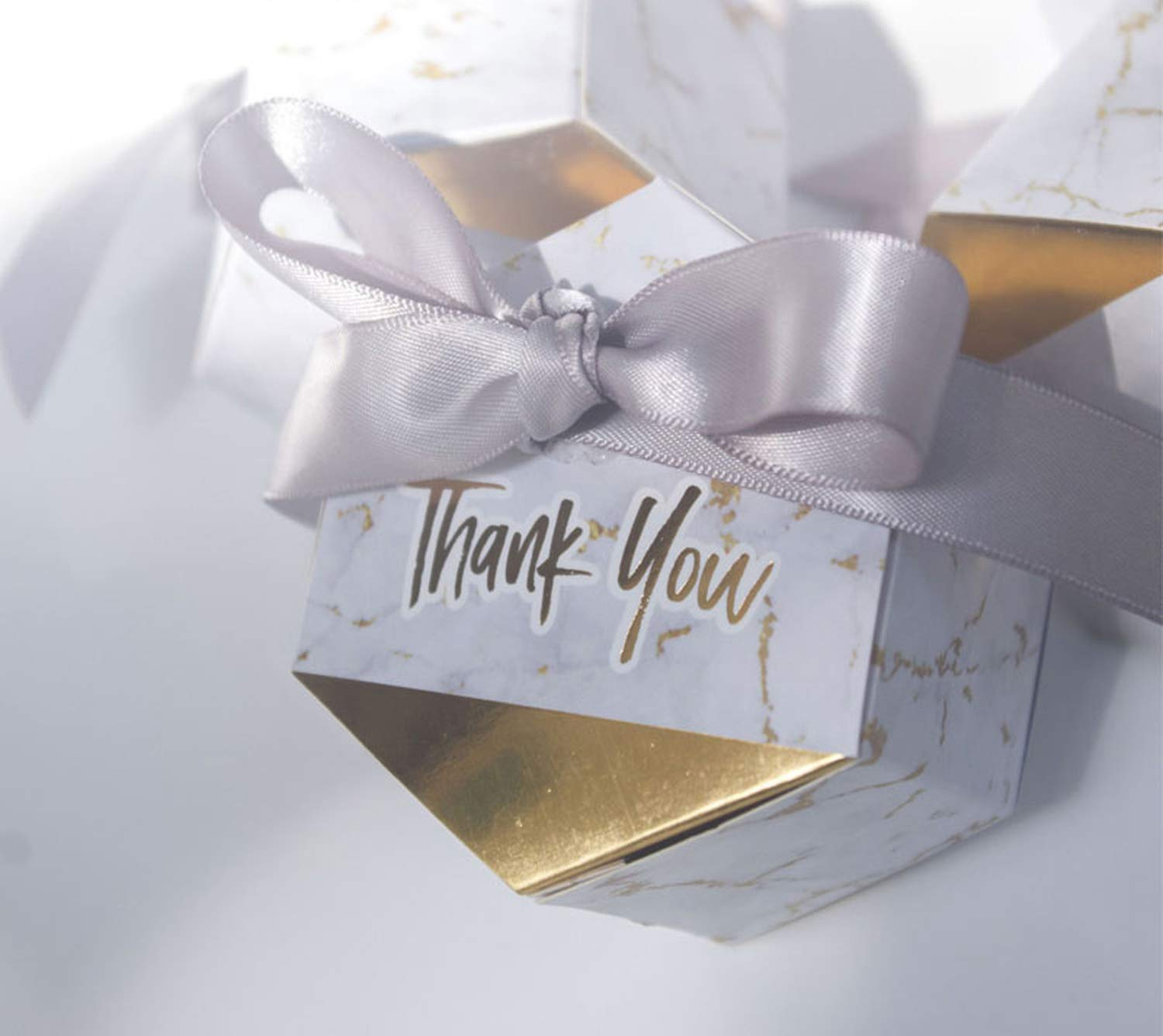 30 Baby Shower Thank You Gift Boxes Personalized Gold Foil Favor Boxes Xmas Gift