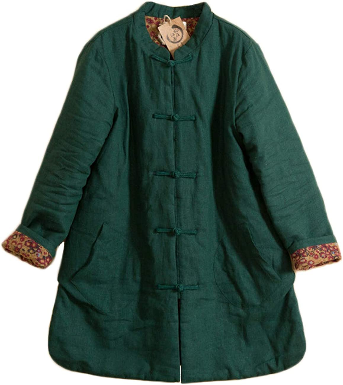 LZJN Women Quilted Lightweight Jackets Chinese Tang Suit Closure Coat