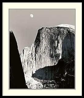 Framed Wall Art Print Moon Over Half Dome by Ansel Adams 26.88 x 31.38