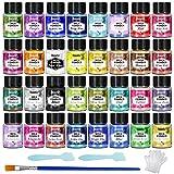Polvere di mica - Pigmento di resina epossidica 32 colori, colorante per sapone, colorante in...