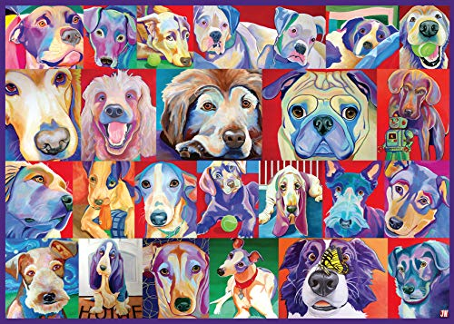 Ravensburger 16794 Hello Doggie - 500 PC Puzzles Large Format for Adults – Every Piece is Unique, Softclick Technology Means Pieces Fit Together Perfectly
