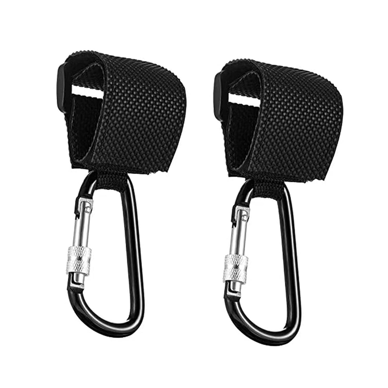 Stroller Hooks Clips for Diaper Bags, 2 Pack of Baby Durable Clips Hooks for Stroller to Hang Bags, Adjustable Multi-Purpose Hooks,Stroller Organizer, Purse