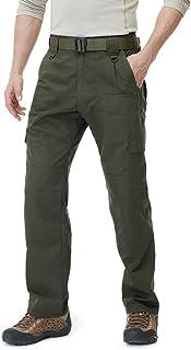 CQR Men's Tactical Pants, Water Repellent Ripstop Cargo...