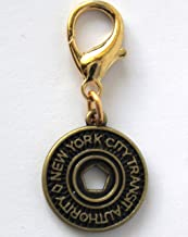 Diva-Dog New York Subway Token Dog Collar Charm or Keychain