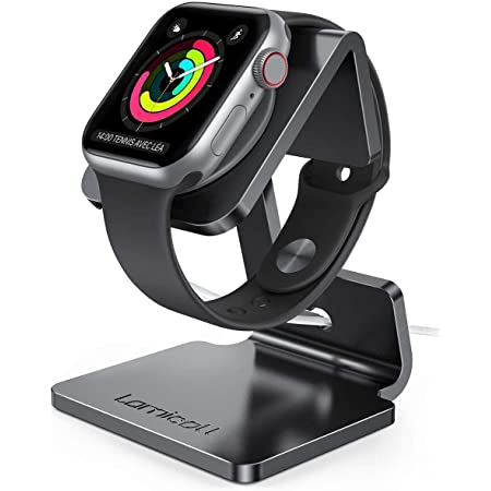 Lamicall Stand Suit for Apple Watch, Charging Stand : Desk Watch Stand Holder Charging Dock Station Compatible with Apple Watch Series 7/SE Series 6/5 / 4/3 / 2/1 / 44mm / 42mm / 40mm / 38mm - Black