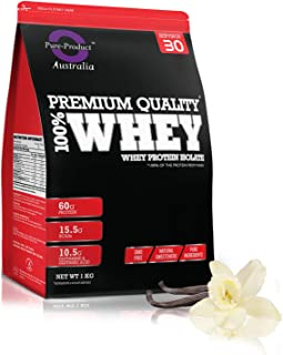 Pure Product Australia Whey Protein Isolate, Vanilla, 1 kilograms