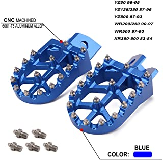 JFG RACING CNC Blue Foot Pegs Footpegs Foot Rests Foot Pedals For Yamaha YZ80 YZ125 YZ250 YZ500 WR200 WR250 WR500 87-05 For Honda XR350-500 83-84